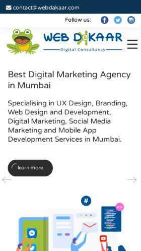 webdakaar.com on an iPhone